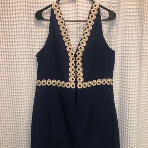 Navy & Gold Lily Pulitzer dress